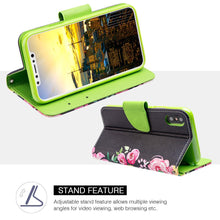 Load image into Gallery viewer, Trendy Leather Flip Wallet Case with Stand and Card Slot - Let's Get Lost for iPhone X