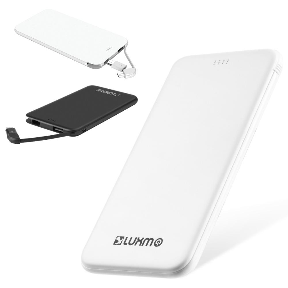 Universal Ultra Slim Charge 5000MAH External Power Bank With Built In Cable And Micro USB To 8 Pin C