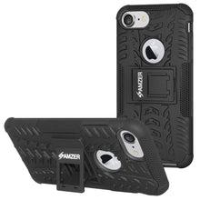Load image into Gallery viewer, AMZER Shockproof Warrior Hybrid Case for iPhone 8 - Black/Black