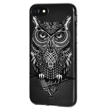 Load image into Gallery viewer, Ultra Thin Protective Cover Soft Gel Shockproof TPU Skin Case Graphic Owl for iPhone 8 - Clear