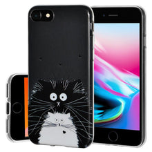 Load image into Gallery viewer, Ultra Thin Protective Cover Soft Gel Shockproof TPU Skin Case Cat for iPhone 8 - Clear