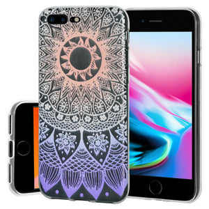 Ultra Thin Protective Cover Soft Shockproof TPU Skin Case Mandala Ombre for iPhone 8 Plus - Clear
