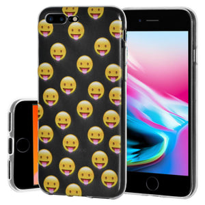 Ultra Thin Protective Cover Soft Gel Shockproof TPU Skin Case Tongue Out for iPhone 8 Plus - Clear