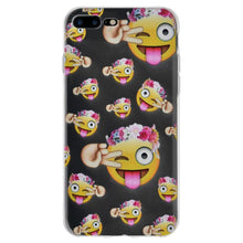 Load image into Gallery viewer, Soft Gel Clear Emoji TPU Skin Case - Face With Stuck Out Tongue with Winking Eye for iPhone 8 Plus