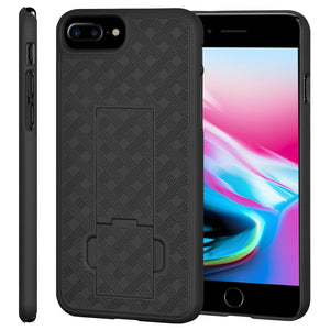 AMZER Snap On Case with Kickstand - Black for iPhone 8 Plus