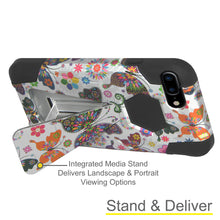 Load image into Gallery viewer, Amzer Dual Layer Designer Hybrid Case with Kickstand - Colorful Butterfly Flower Polka Dot Floral for iPhone 8 Plus