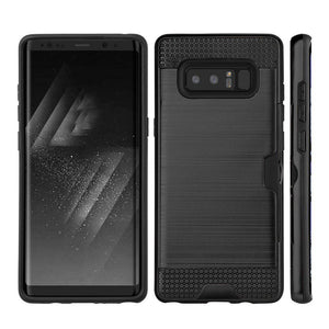Executive Leather Horizontal Pouch with Belt Clip + Hybrid Go Case with Credit Card Slot Combo Pack for Samsung Galaxy Note8 SM-N950U
