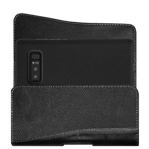 Executive Leather Horizontal Pouch with Belt Clip + Hybrid Anti Slip Case Combo Pack for Samsung Galaxy Note8 SM-N950U