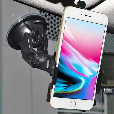 AMZER Suction Cup Mount for Windshield, Dash or Console for iPhone 7+ 8+ Plus