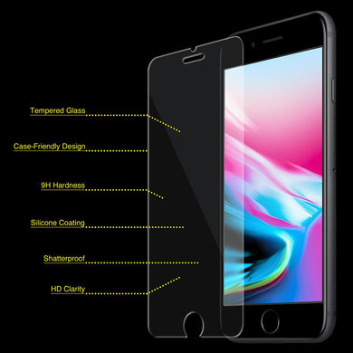 Anti Scratch Tempered Glass Screen Protector for iPhone 8 Plus - Clear