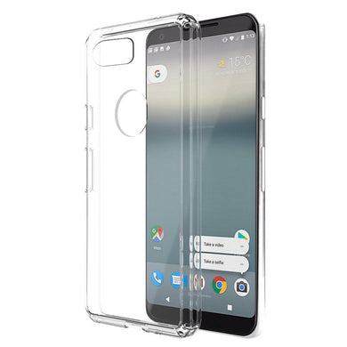 Shockproof Fusion Candy TPU Case with Clear Acrylic Back - Clear for Google Pixel 2 XL