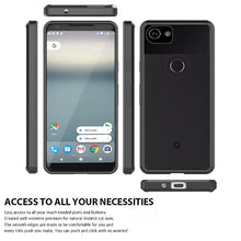 Load image into Gallery viewer, Shockproof Fusion Candy TPU Case with Clear Acrylic Back - Black for Google Pixel 2 XL