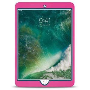 Dual Layer Hybrid Case - Hot Pink/ Blue for Apple iPad 9.7