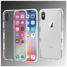 Load image into Gallery viewer, AMZER Hybrid Soft Flexible TPU Case - Clear/White for iPhone X