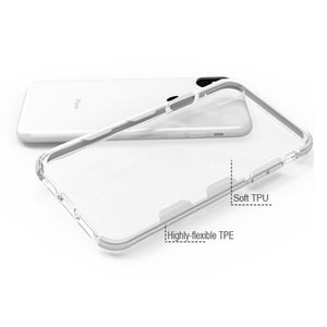 AMZER Hybrid Soft Flexible TPU Case - Clear/White for iPhone X