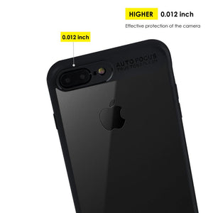 AMZER Bare Hands Hybrid Protection Back Case - Black for iPhone 7 Plus