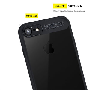 AMZER Bare Hands Hybrid Protection Back Case - Black for iPhone 7, iPhone SE 2020