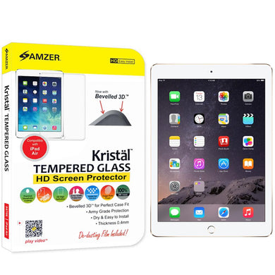 AMZER Kristal Tempered Glass HD Screen Protector - Clear for The new 9.7 iPad 2018