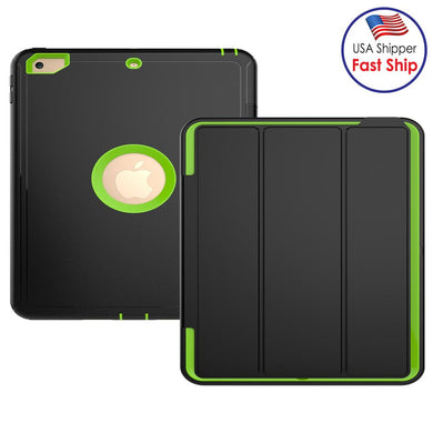 AMZER TUFFEN 3-fold Magnetic Protective Case with Smart Cover Auto-sleep & Awake Function - Light Green for Apple iPad 9.7
