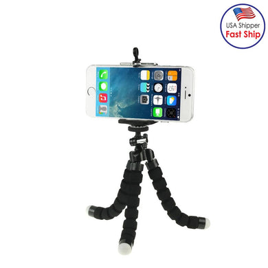 Flexible Octopus Bubble Tripod Holder Stand Mount for Mobile Phones, Digital Camera - Black