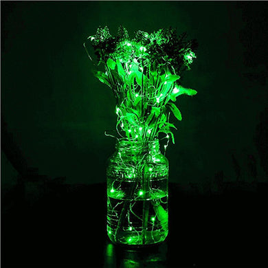AMZER IP65 Waterproof Green Light Silver Wire String Light 50 LEDs Fairy Lamp Decorative Light - 5m