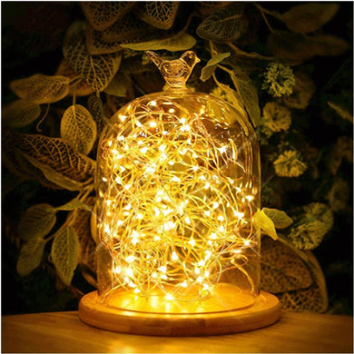 AMZER IP65 Waterproof Warm White Light Silver Wire String Light 50 LEDs Fairy Lamp Decorative Light