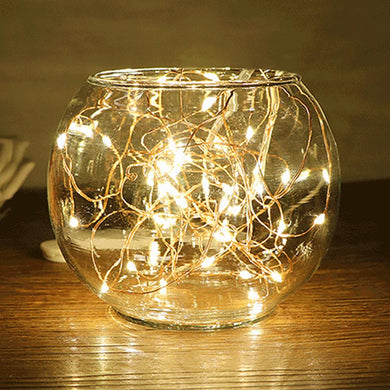AMZER IP65 Waterproof Yellow Light Silver Wire String Light 50 LEDs Fairy Lamp Decorative Light - 5