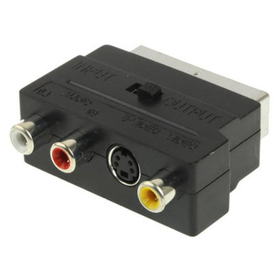 RGB Scart Male to S Video and 3 RCA Audio Adaptor