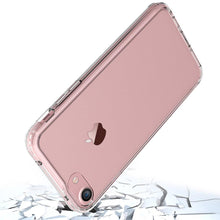 Load image into Gallery viewer, Shockproof Fusion Candy TPU Case with Clear Acrylic Back - Pink for iPhone 8