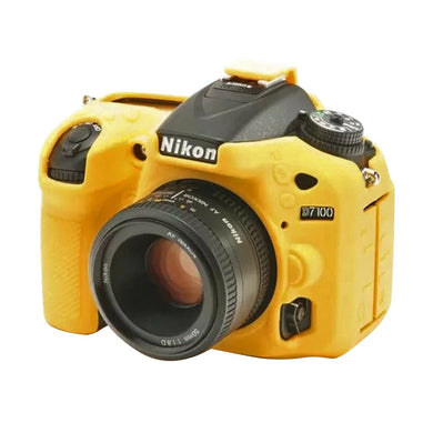 AMZER Soft Silicone Protective Case for Nikon D7200 /D7100 - Yellow