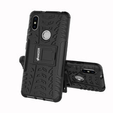 Load image into Gallery viewer, AMZER Shockproof Warrior Hybrid Case for Xiaomi Redmi S2 - Black/Black