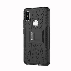 AMZER Shockproof Warrior Hybrid Case for Xiaomi Redmi S2 - Black/Black