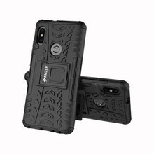 Load image into Gallery viewer, AMZER Shockproof Warrior Hybrid Case for Xiaomi Redmi Note 5 Pro - Black/Black