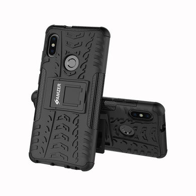 AMZER Shockproof Warrior Hybrid Case for Xiaomi Redmi Note 5 Pro - Black/Black