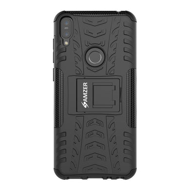 AMZER Shockproof Warrior Hybrid Case for Asus Zenfone Max Pro M1 - Black/Black