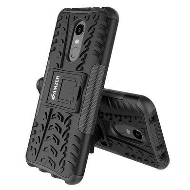 AMZER Shockproof Warrior Hybrid Case for Xiaomi Redmi Note 5 - Black/Black