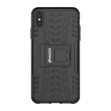 AMZER Shockproof Warrior Hybrid Case for iPhone Xs Max - Black/Black