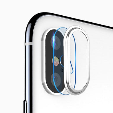 High Permeability Tempered Glass Camera Lens Protective Film Set - Silver for iPhone Xs Max
