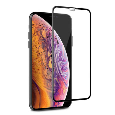 Premium Full Body Tempered Glass 3D Curved Screen Protector for iPhone Xr - Black