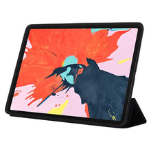 Load image into Gallery viewer, AMZER PU Leather Case With Three-folding Holder & Wake-up Sleep Function for Apple iPad Pro 11 Inch 2018 - Black