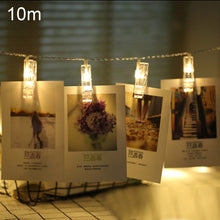 Load image into Gallery viewer, AMZER 80 LED Photo Clip String Lights Decor Indoor/Outdoor, Battery Powered Lamp for Home Party Christmas Decoration Birthday Wedding Festival - Warm White