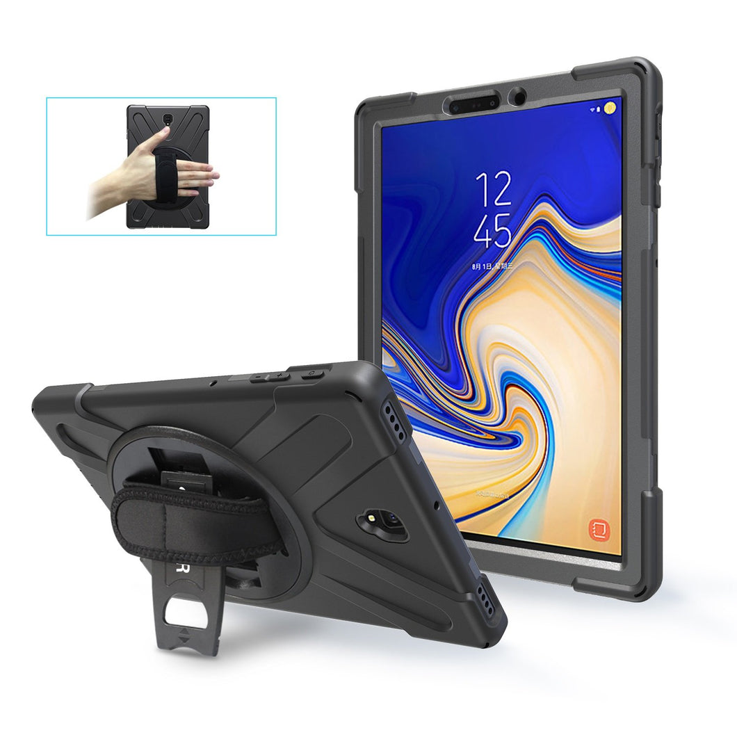 AMZER TUFFEN Hybrid Case With Built-in Screen Protector for Samsung Galaxy Tab S4 10.5 T835 - Black