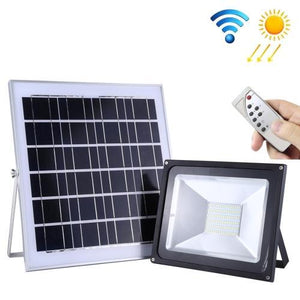 AMZER 30W IP65 Waterproof Solar Flood Light, 54 LEDs Smart Light with Solar Panel & Remote Control