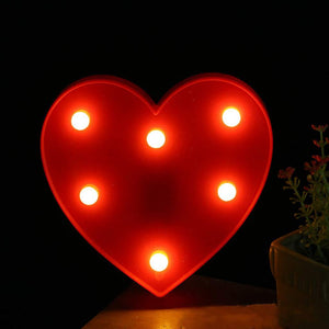 AMZER Creative Heart Shape Warm White LED Decoration Light, Party Festival Table Wedding Lamp Night Light
