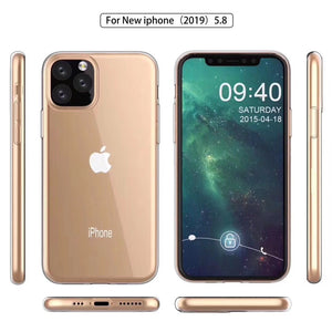 AMZER Ultra Slim TPU Soft Protective Case for iPhone 11 Pro Max - Clear - fommystore