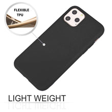Load image into Gallery viewer, AMZER Shockproof Silicone Skin Jelly Case for iPhone 11 Pro Max - Black - fommystore