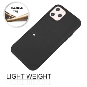 AMZER Shockproof Silicone Skin Jelly Case for iPhone 11 Pro Max - Black - fommystore