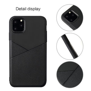 AMZER Shockproof Soft TPU Leather Protective Case for iPhone 11 Pro Max - fommystore