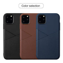 Load image into Gallery viewer, AMZER Shockproof Soft TPU Leather Protective Case for iPhone 11 Pro Max - fommystore