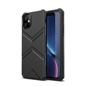 AMZER Diamond Design TPU Protective Case for iPhone 11 - Black - fommystore